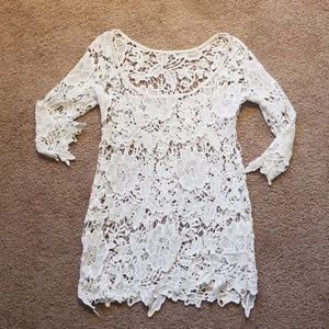 Other - White lace swimsuit cover-up